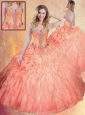 Fashionable Straps Ball Gown Sweet 16 Quinceanera Dresses with Ruffles and Appliques