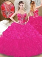 2016 Cute  Fuchsia Sweet 16  Quinceanera Dresses with Pick Ups