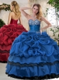 Clearance Ball Gown Beading and Pick Ups Sweet 16 Quinceanera Dresses