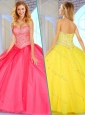 Clearance  Sweetheart Ball Gown Sweet 16 Quinceanera Dresses with Beading