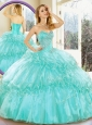 Clearance  Sweetheart Quinceanera Dresses with Beading and Ruffled Layers for Summer