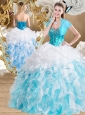 Cute Ball Gown Sweetheart Quinceanera Dresses with Beading and Ruffles