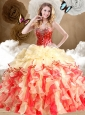 2016 Clearance Multi Color Sweet 16 Quinceanera Dresses with Beading and Ruffles