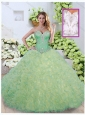 Discount Ball Gown Beading and Ruffles Quinceanera Dresses