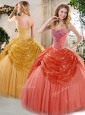 Discount  Floor Length Beading and Paillette Quinceanera Dresses for Winter