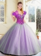 Discount Floor Length Lavender Sweet 16 Quinceanera Dresses with Beading