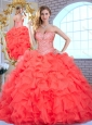 Discount Sweetheart Quinceanera Dresses with Beading and Ruffles