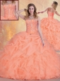 2016 Discount  Sweetheart Quinceanera Dresses with Ruffles and Pick Ups