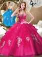Discount Beading Quinceanera Gowns with Appliques for 2016