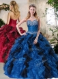 2016 Unique  Ball Gown Multi Color Sweet 16 Quinceanera Dresses with Beading and Ruffles