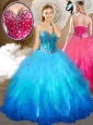 Discount  Ball Gown Sweet 16 Quinceanera Dresses with Beading and Ruffles