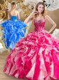 Discount Beading and Ruffles Sweet 16 Quinceanera Dresses in Multi Color