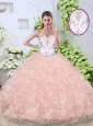 Unique Ball Gown Quinceanera Dresses with Beading and Pick Ups 2016