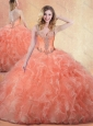 Unique  Ball Gown Quinceanera Dresses with Ruffles and Appliques