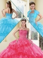 Unique Ball Gown Quinceanera Gowns with Beading and Ruffled Layers 2016