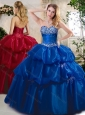 Unique Ball Gown Sweet 16 Quinceanera Dresses with Beading and Pick Ups