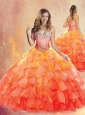 Unique  Sweetheart Ball Gown Quinceanera Dresses with Ruffles