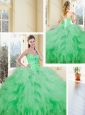 Unique Sweetheart Beading and Ruffles Quinceanera Dresses