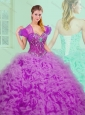 Unique  Sweetheart Sweet 16 Quinceanera Dresses with Beading and Ruffles