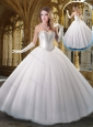 2016 Cheap Sweetheart White Wedding Dresses with Beading and Sequins