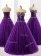 2016 Pretty Beading A Line Sweet 16 Dresses in Purple