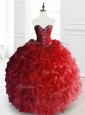 Exquisite Ball Gown Sweet 16 Gowns with Beading and Ruffles
