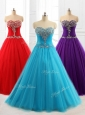 Lovely A Line Sweetheart Quinceanera Dresses with Beading for 2016