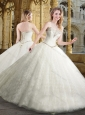 Most Popular Ball Gown Sweetheart White Wedding Dresses with Beading