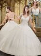New Arrivals Ball Gown Appliques White Wedding Dresses for Garden