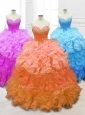New Style Sweetheart Quinceanera Gowns with Beading and Ruffles