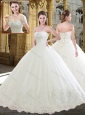 Pretty Ball Gown Sweetheart Wedding Dress with Beading and Appliques