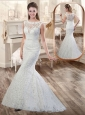 Best Column V Neck Appliques Wedding Dresses with Cap Sleeves