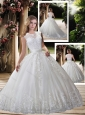 New Style Ball Gown Scoop Wedding Dresses with Appliques