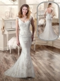 Sexy Mermaid Brush Train 2015 Wedding Dresses for Garden