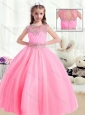 2016 Beautiful Ball Gown Cap Sleeves Mini Quinceanera Dresses with Beading