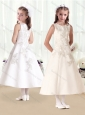Beautiful Scoop Princess Flower Girl Dresses with Appliques