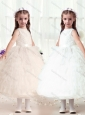 Hot Sale Ball Gown Bateau Flower Girl Dresses with Ruffles