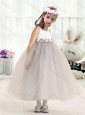 Most Popular Bateau Empire Flower Girl Dresses with Appliques