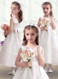 Romantic Scoop Flower Girl Dresses with Appliques and Bowknot