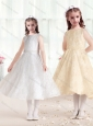 Sweet Princess Scoop Flower Girl Dresses in Lace