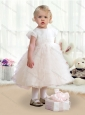 Fashionable Scoop Cap Sleeves Toddler Dress with Ruffles
