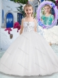 Luxurious Spaghetti Straps Ball Gown Flower Girl Dresses with Beading