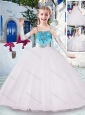 Gorgeous Spaghetti Straps Flower Girl Dresses with Appliques and Beading