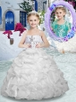 Lovely Spaghetti Straps Flower Girl Dresses with Beading and Ruffles