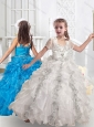 New Arrivals Straps Ball Gown Little Girl Pageant Dresses with Beading and Ruffles