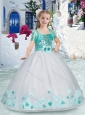 New Style Romantic Spaghetti Straps Little Girl Pageant Dress with Sashes and Beading
