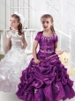 New Style Spaghetti Straps Little Girl Pageant Dresses with Appliques and Bubles