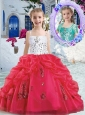 New Style Spaghetti Straps Little Girl Pageant Dresses with Beading and Bubles