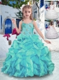 New Style  Straps Ball Gown Little Girl Pageant Dresses with Ruffles