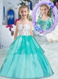 New Style  Sweet Ball Gown Little Girl Pageant Dresses with Appliques and Beading